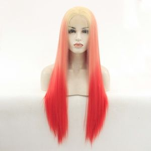 Highlight 3 Color Straight Lace Front Wigs